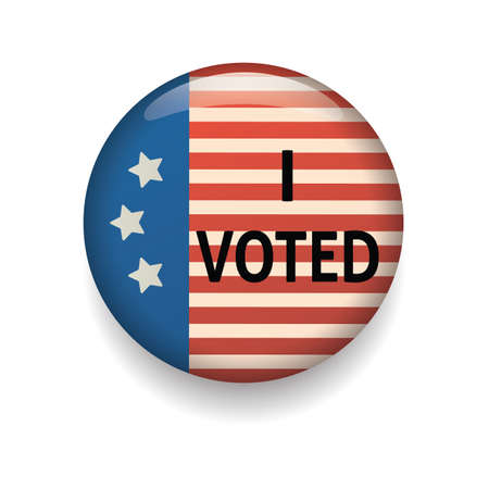 voted: usa i voted badge Illustration