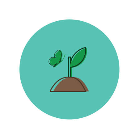 sapling: sapling with butterfly