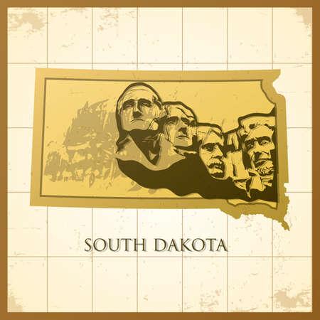 map of south dakota state