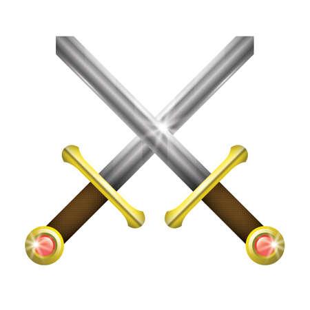 crossed swords: two crossed swords