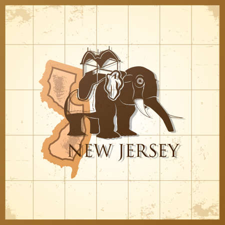 jersey: map of new jersey state