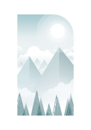 snowy: snowy mountains