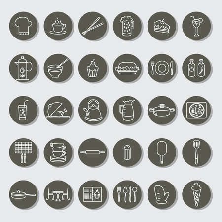 restaurant icons: collection of restaurant icons
