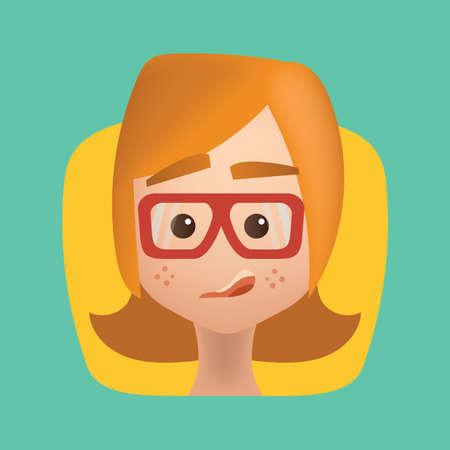 smirking: girl smirking Illustration