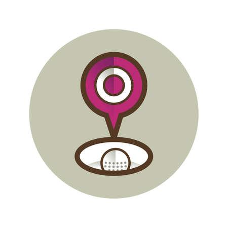 hole: golf ball in hole Illustration