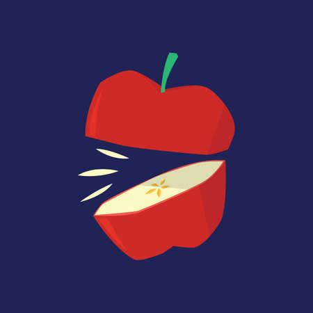 sliced apple: sliced apple Illustration