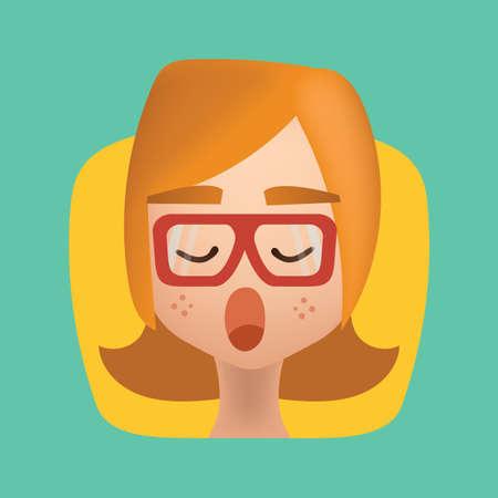 yawning: girl yawning