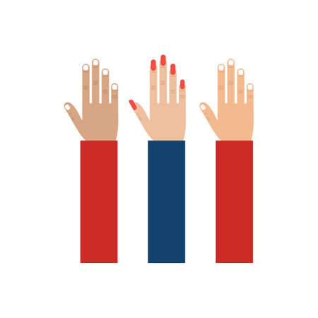 president of the usa: hands raised Illustration