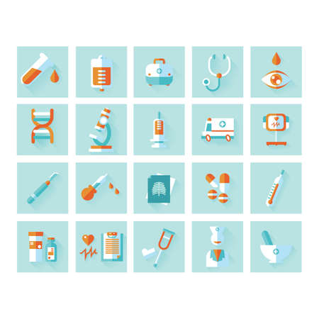 xray machine: collection of medical icons Illustration