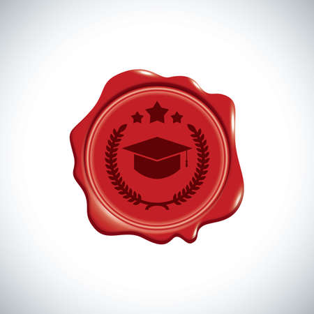 wax stamp: graduate wax stamp