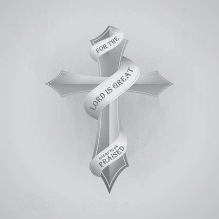 christian cross design Illustration