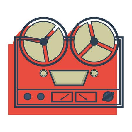grabadora: grabadora de cinta de carrete Vectores