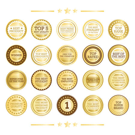 nomination: set of gold seals