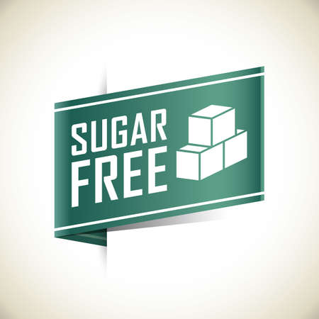 sugar cube: sugar free label Illustration