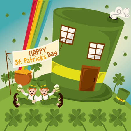 st  patrick's day: happy st. patricks day Illustration