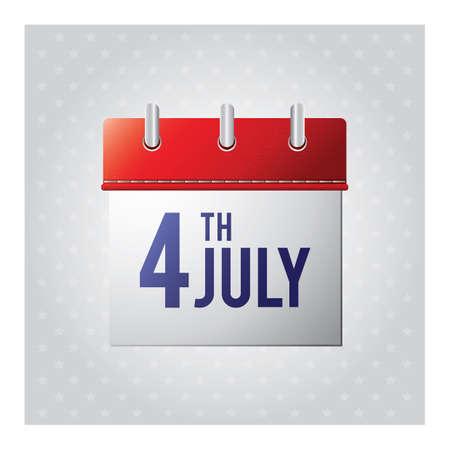 july calendar: 4� Calendario julio Vectores