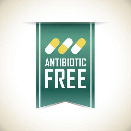 antibiotic: antibiotic free banner Illustration