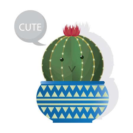 plant pot: cactus plant in a pot