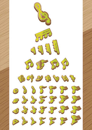 semiquaver: set of musical notes Illustration