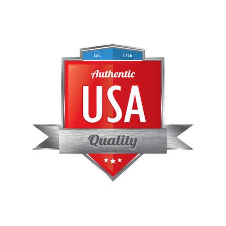 authentic: authentic usa banner Illustration