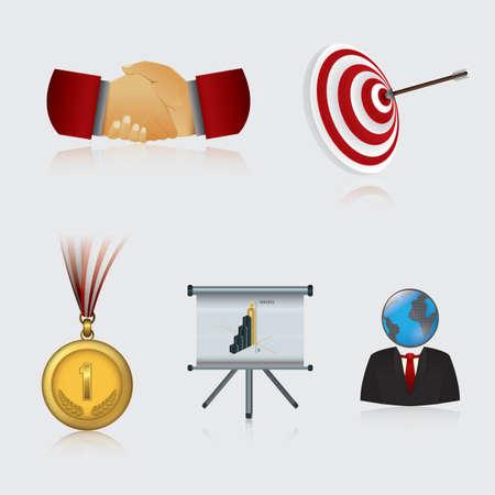 no1: business icons Illustration