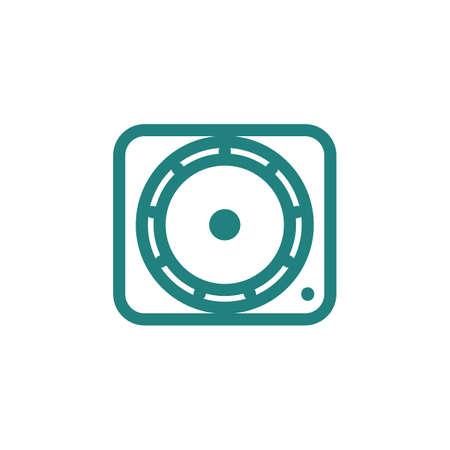 jog: dj scratch disc jog wheel icon Illustration