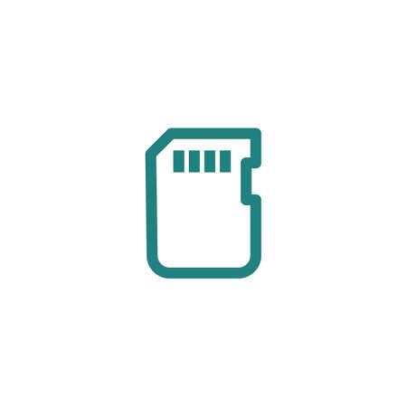 memory: memory card icon