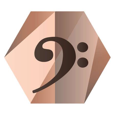 bass clef: nota clave de Fa para la música