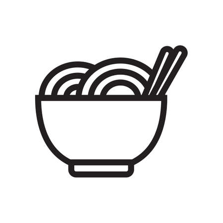chopsticks: noodles and chopsticks Illustration