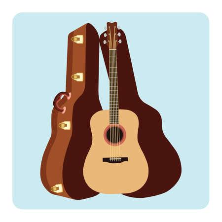 guitar case: guitar with a guitar case
