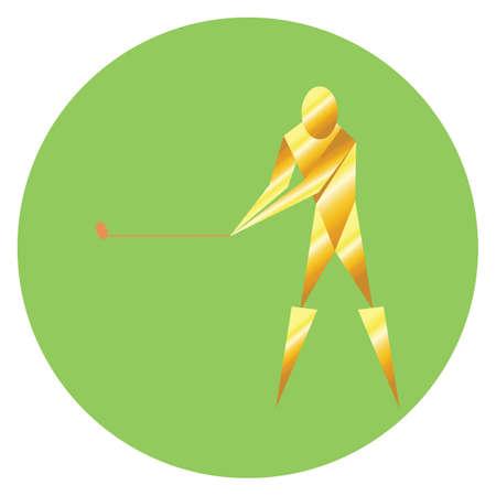 golfer swinging: golfer swinging the golf club Illustration