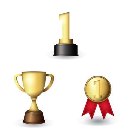 Conjunto de varios premios Foto de archivo - 81469535