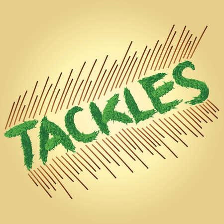 tackles: tackles text Illustration