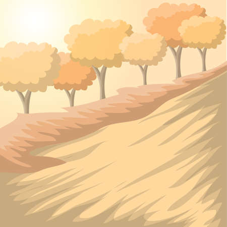 slopes: scenic landscape Illustration