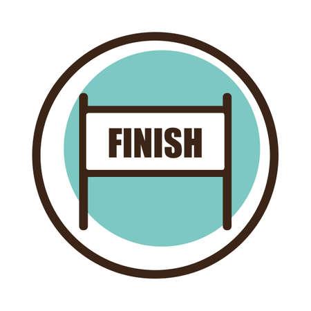 finish: finish line Illustration