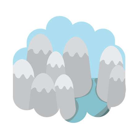 river rock: scenic landscape Illustration