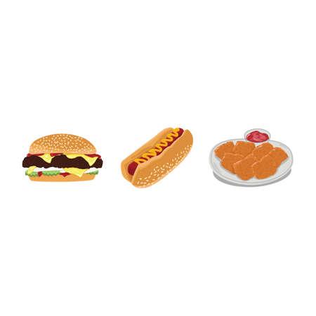 nuggets: fast food set