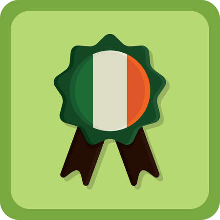 ireland: ireland badge Illustration