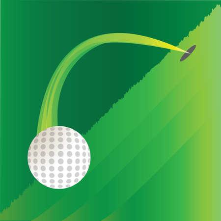 hole: golf ball out of hole