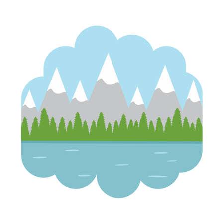 scenics: mountain landscape Illustration
