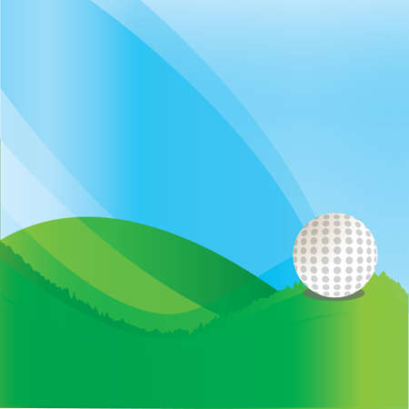 copyspaces: golf ball on golf course