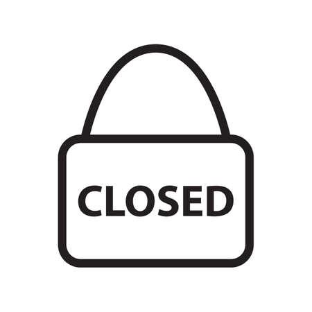at sign: closed sign Illustration