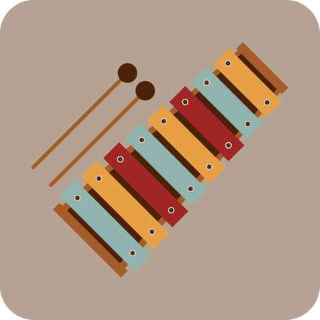 xylophone: xil?fono Vectores
