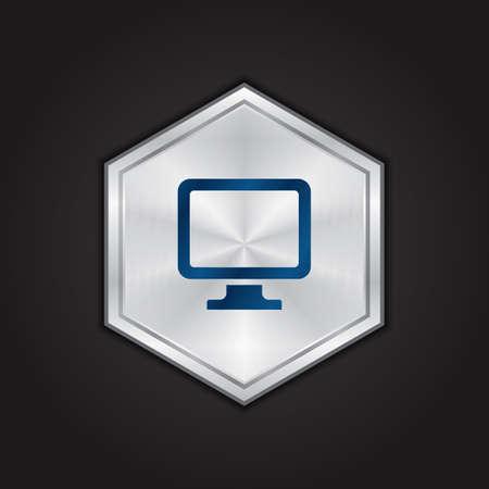 on computer: computer monitor Illustration