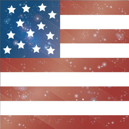 flag: usa flag Illustration