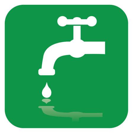 llave de agua: grifo Vectores