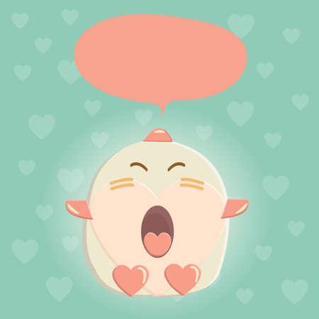 cute creature: cute creature with speech bubble