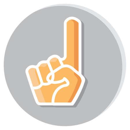 foam hand: cheering foam hand Illustration