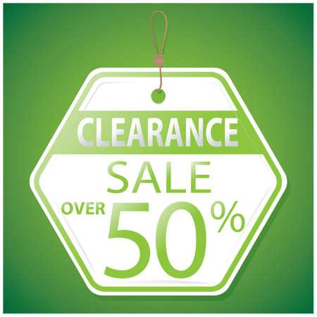 clearance: clearance sale tag
