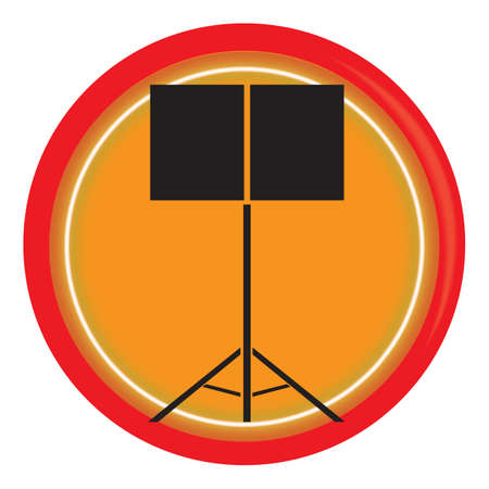 music stand: music stand